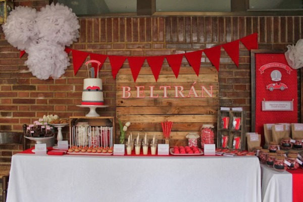 Kara's Party Ideas Vintage Red Car Themed Birthday Party {planning