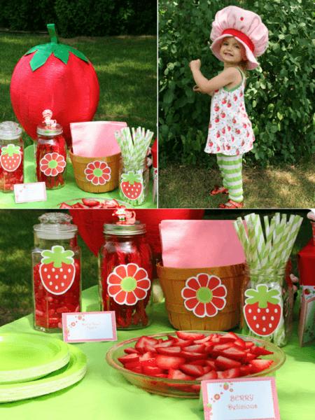 Diy Strawberry Shortcake Birthday Party Ideas