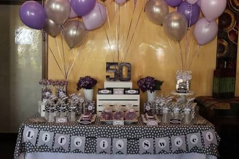 Dessert Table Ideas For 50 Th Birthday