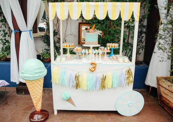 Ice Cream Inspired Birthday Party
