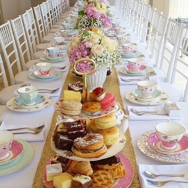 Tea Party Bridal Baby Shower Inspiration  If You're Planning A