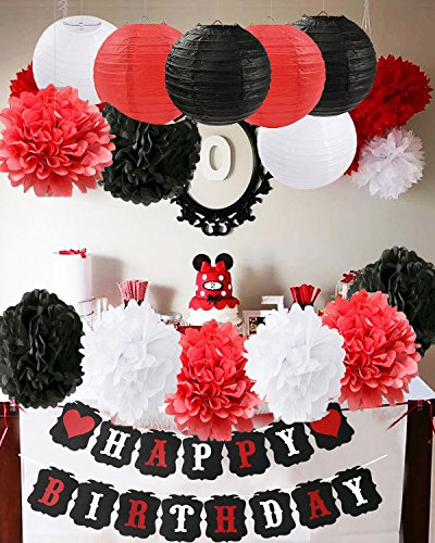 Amazon Com  Furuix Mickey Mouse Birthday Party Decorations White