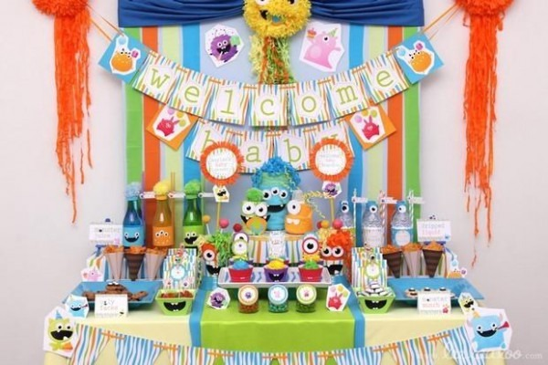 Monster Themed Boy Baby Shower Www Spaceshipsandlaserbeams Com