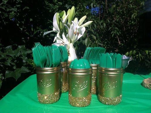 Emerald Green & Gold Engagement