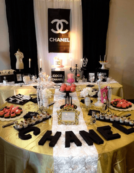 Chanel Birthday Party Ideas