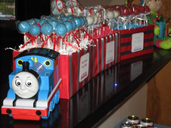 Thomas Birthday Cake Pops  My 2 Year Old Is Obsessed With Thomas