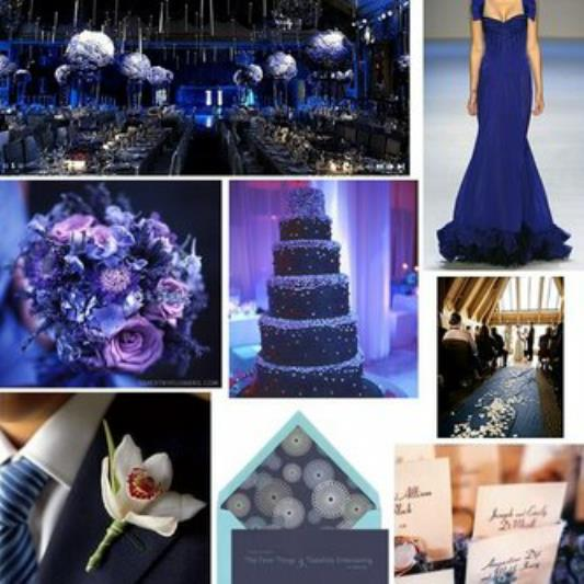 Blue Wedding, Blue Cocktail Party Ideas