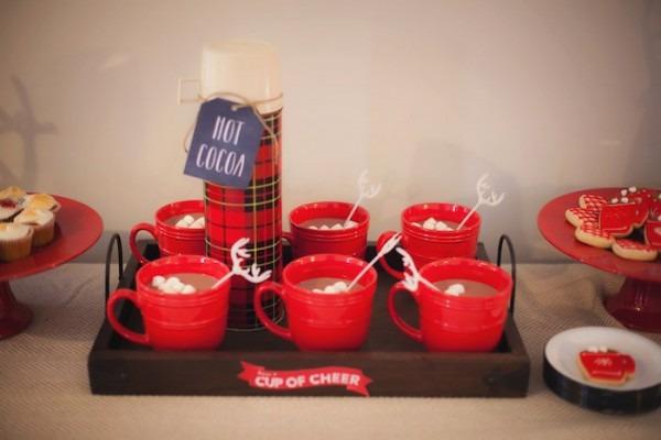 Kara's Party Ideas Cozy Tree Trimming Holiday Party