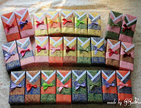 A Cute Way To Give Out Party Favors In A Hanbok Box ;)