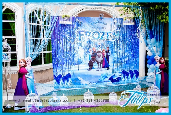 Frozen Elsa Anna Olaf Themed Birthday Party Decoration Planner In