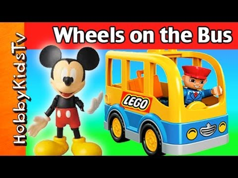 Mickey Mouse Wheels On The Bus! Song + Clubhouse, Peppa