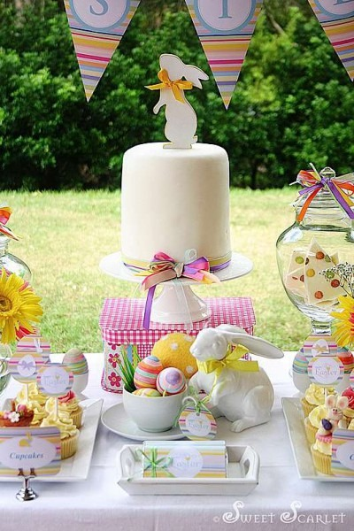 Kara's Party Ideas Easter Dessert Table Decorations