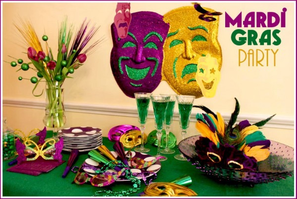 Host A Mardi Gras Party  Recipes & Free Printable Masks!