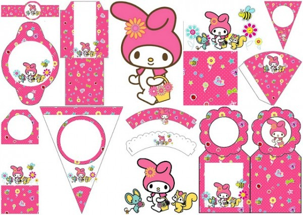 My Melody Birthday Party  Free Party Printables, Papers And Images