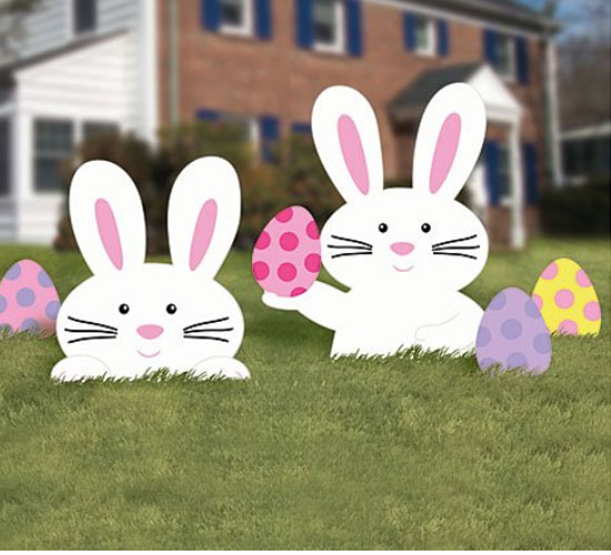 Outdoor Easter Bunny Party Decoration Idea
