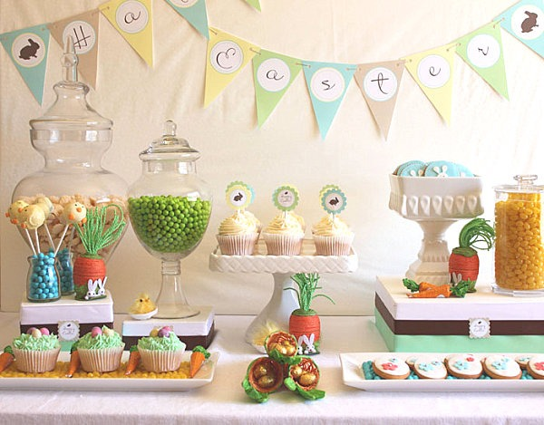 Tips & Ideas  Pastel Easter Dessert Table, Easter Table Setting