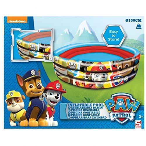 Paw Patrol Character Inflatable 3 Ring 100cm Play Pool Outdoor