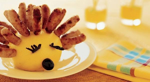 Sausage Hedgehog Party Snack Recipe