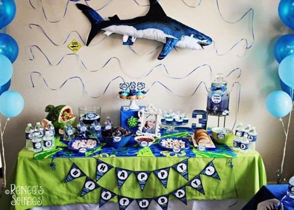 Kara's Party Ideas Shark Party Ideas Planning Idea Supplies