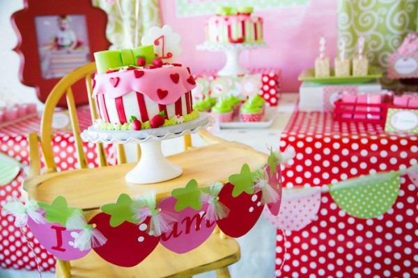 Kara's Party Ideas Strawberry Shortcake Themed First Birthday