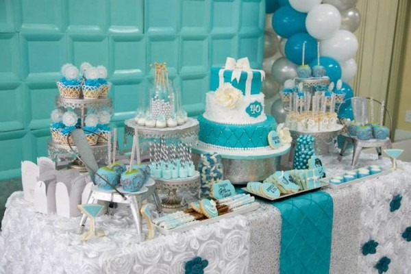 Kara's Party Ideas Tiffany & Co  Inspired Birthday Party {planning