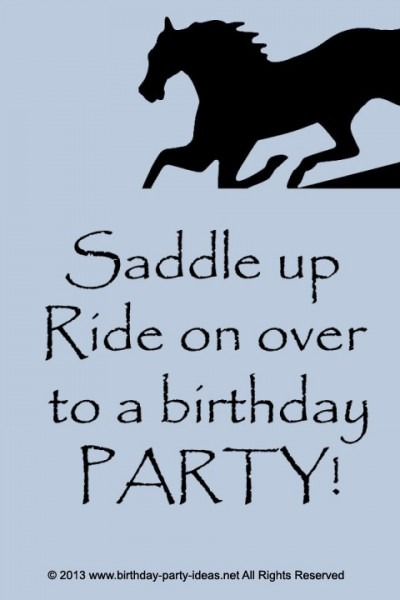 Factors To Consider When Planning A Horse Theme Birthday Party