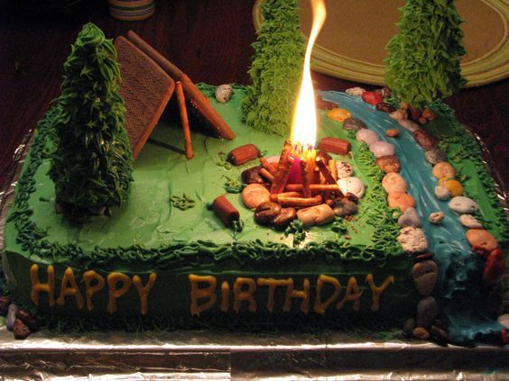 Southern Blue Celebrations Camping Themed Cakes, Cupcakes