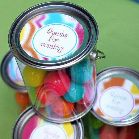 Mini Paint Cans Filled With Gumball Favors (michaels Sells These