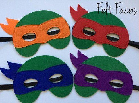 Teenage Mutant Ninja Turtle Party Masks, Teenage Mutant Ninja