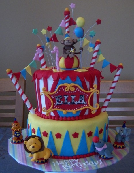 I Want To Throw A Circus Carnival Party For A Child This Cake