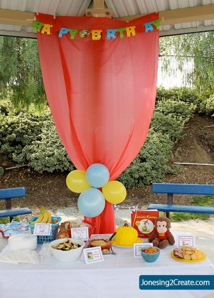 Dollar Tree Tablecloth Hung Up To Hide The Poles Park Birthday