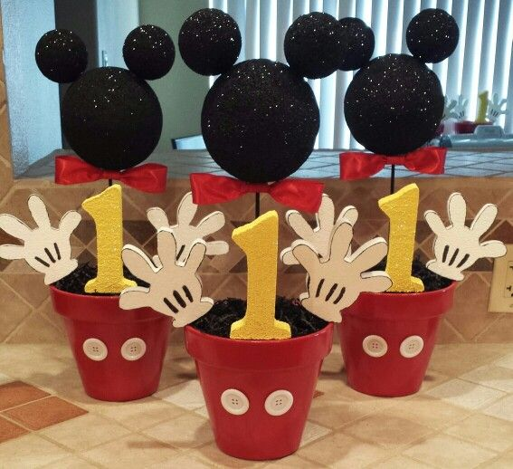 Mickey Mouse Centerpieces! …