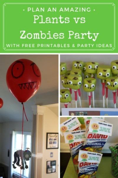 Plants Vs Zombies Party Ideas & Printables