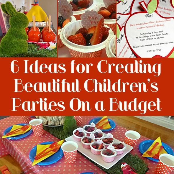 Budget Children's Birthday Party Ideas