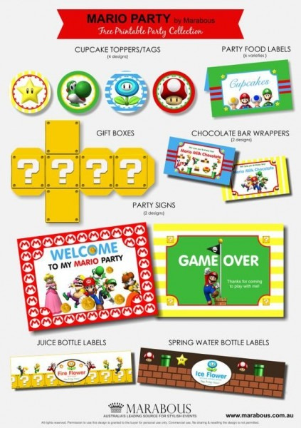 Free Mario Party Printables For Connor's Next Birthday!!