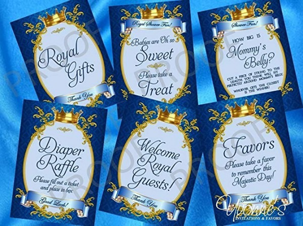 Amazon Com  Royal Baby Boy Little Prince Party Signs  Dessert