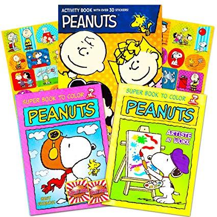 Amazon Com  Peanuts Gang Coloring Book Set