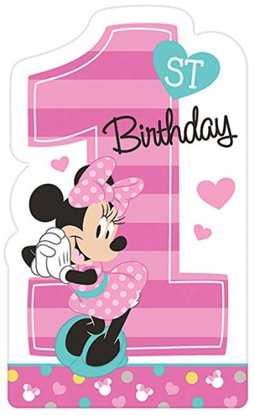 Amazon Com  1st Birthday Minnie Mouse Invitations 8 Count Party