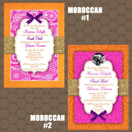 Moroccan Baby Shower Invitations And Signs Printable Uprint