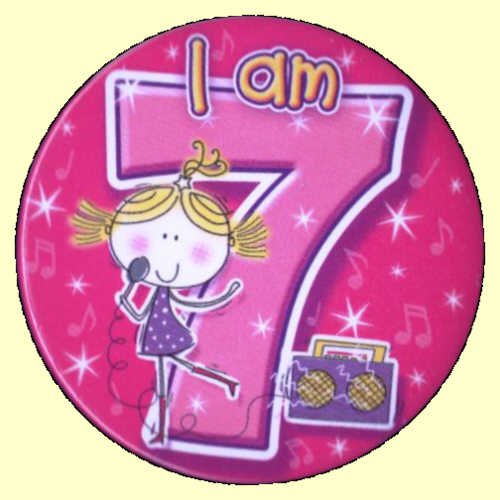 7th Birthday Girl Clipart