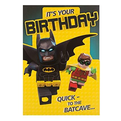 Amazon Com   Hallmark Lego Batman Die Cut Humour Birthday Card 'to