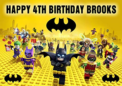 Amazon Com  Lego Batman Birthday Cake Personalized Cake Topper