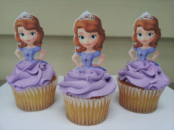 12 Sophia The First Cupcake Toppers By Diapercake4less On Etsy