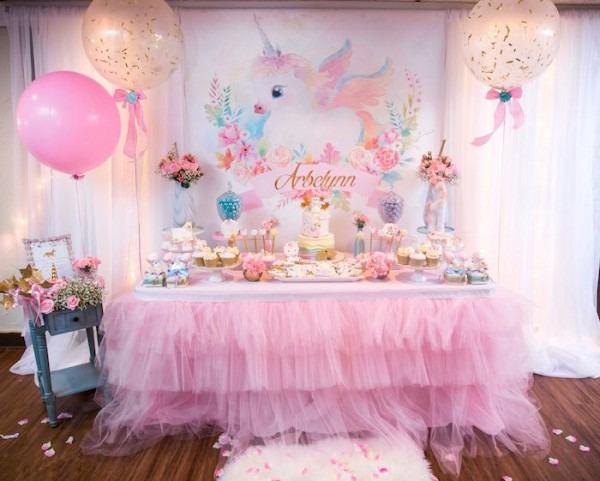 Baby Unicorn 1st Birthday Party