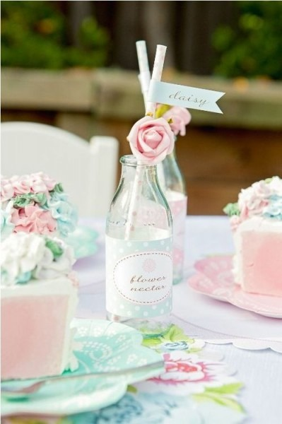 Love The Milk Bottle And Roses  Afternoon Tea Party Setting