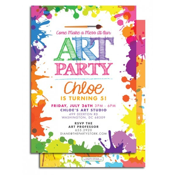 Art Party Invitations With Artistic Invitations For Resulting An