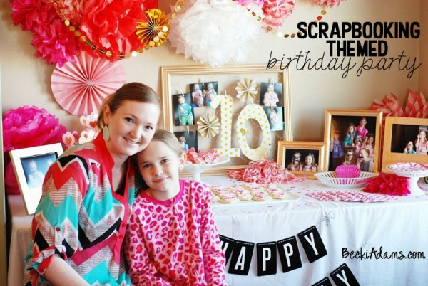 Becki Adams  Scrapbooking Themed Birthday Party (part 2)  Giveaway