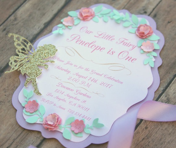 Fairy 1st Birthday Invitation, Fairy Party, Garden Party, Magical