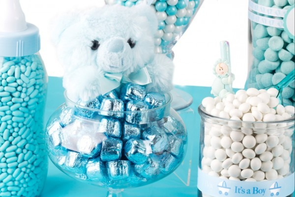 Blue Baby Boy Oh Nuts Likeable Shower Candy Table For Local 4
