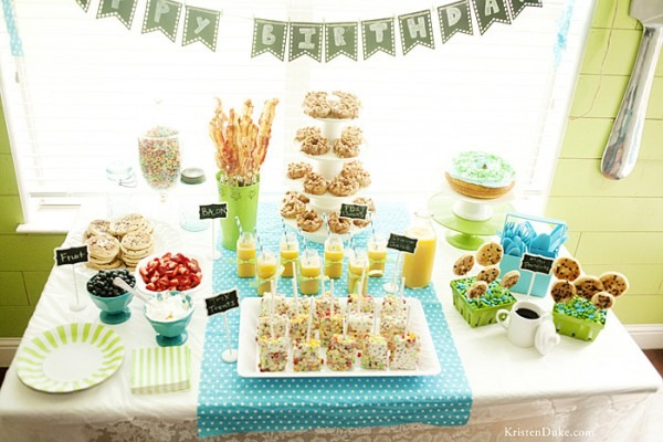 Breakfast In Pj's Birthday Party